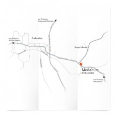 Karte Anfahrt aus der näheren Umgebung